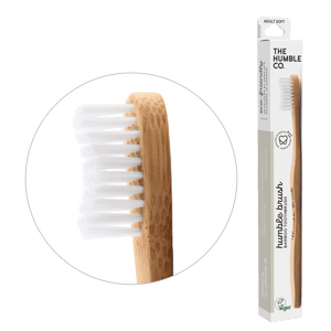 Humble Brush Adult - white, soft bristles - humble-usa