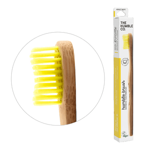 Humble Brush Adult, - yellow, soft bristles - humble-usa