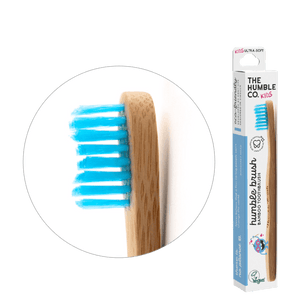 Humble Brush Kids - blue, ultra-soft bristles - humble-usa