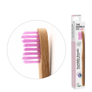 Humble Brush Kids - purple, ultra-soft bristles - humble-usa