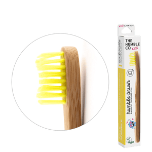 Humble Brush Kids - yellow, ultra-soft bristles - humble-usa