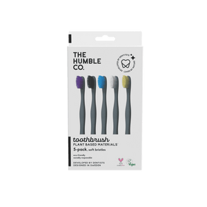 Plant based Toothbrush 5-pack - Sensitive - humble-usa