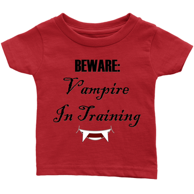 Vampire In Training Infant T-Shirt | Infant T-Shirt / Red / 24M | T-shirt | JacksonsRunaway