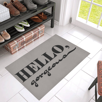 "Hello Gorgegous 30"" x 18"" Doormat"