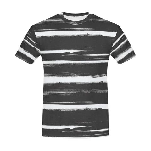 Painted Stripes Mens T-Shirt