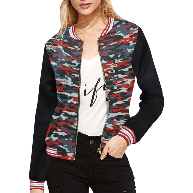 Weekend Viber Women's Camo Jacket | XXL / Camo All Over Print Jacket for Women (Model H21) | Outerwear | JacksonsRunaway