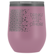 Well With Others Tumbler | Light Purple | Wine Tumbler | JacksonsRunaway