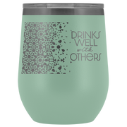 Well With Others Tumbler | Teal | Wine Tumbler | JacksonsRunaway