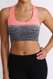 Ombre Sports Bra | Medium / Black Coral | Women's Leggings, Activewear | JacksonsRunaway