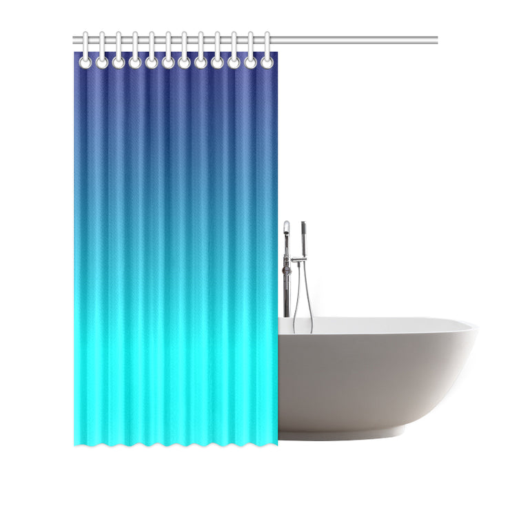 "Blue Ombre 72""x72"" Shower Curtain 