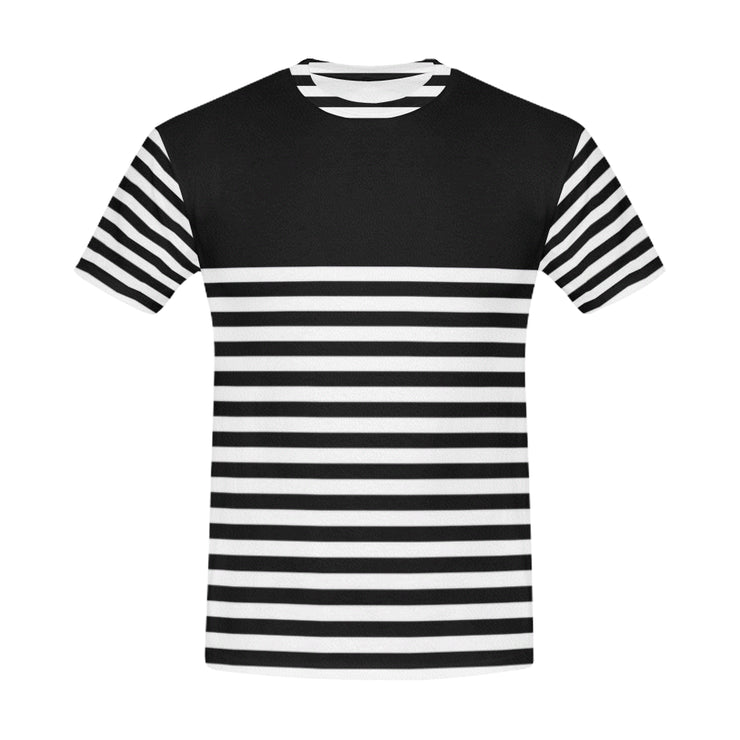 Striped Men's Casual T-Shirt | XXXL / Black/White | Casual | JacksonsRunaway