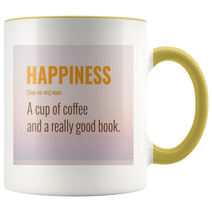 Happiness Mug | Yellow | Drinkware | JacksonsRunaway
