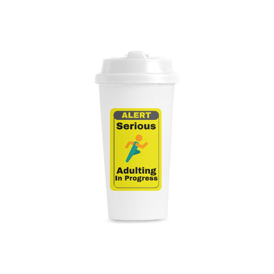 Serious Adulting Double Wall Plastic Mug