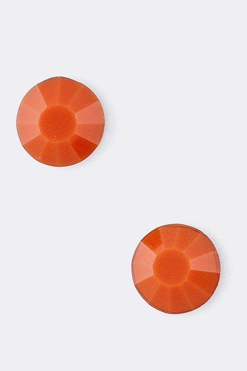 Colorful Dome Stud Earrings