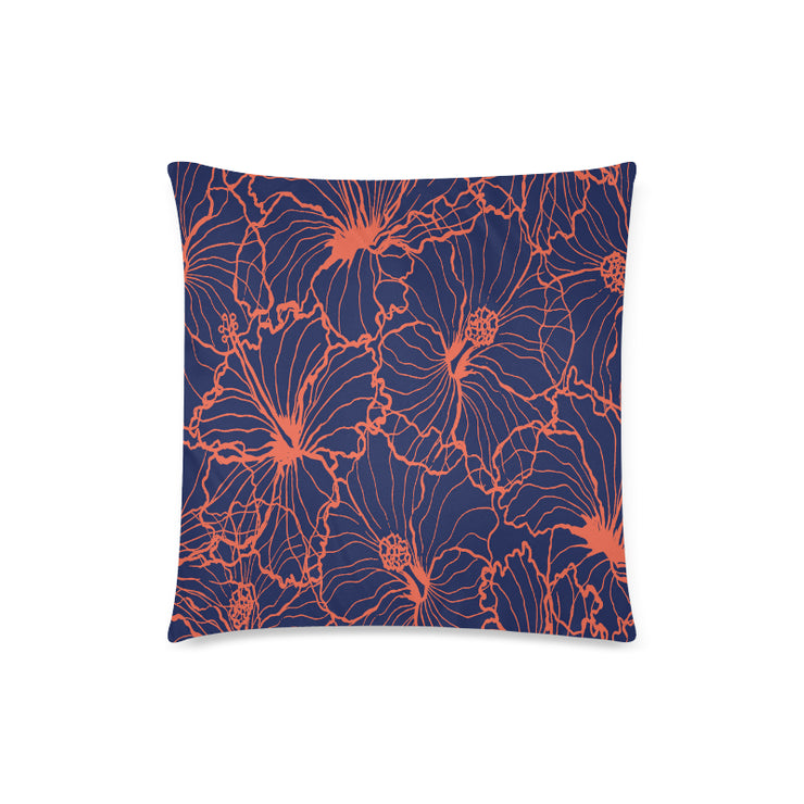 "Hibiscus Zippered 18""x18"" Pillow Case"