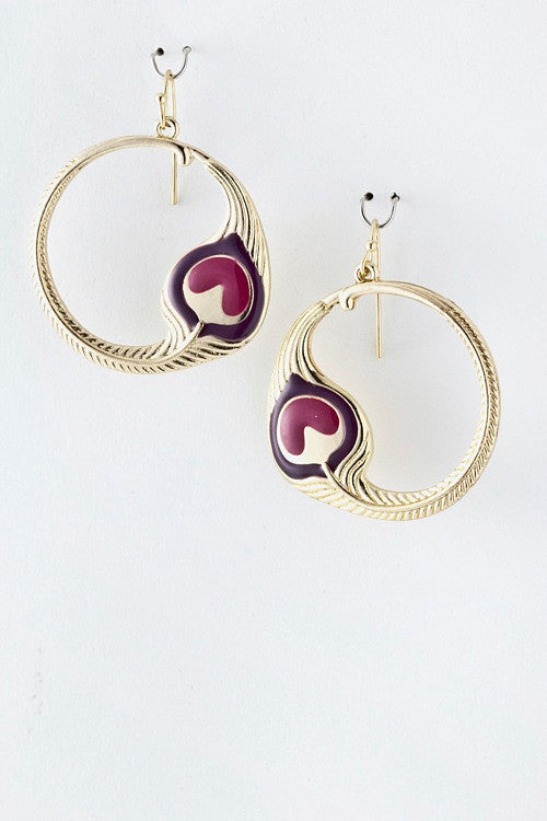 Drop Circle Earrings