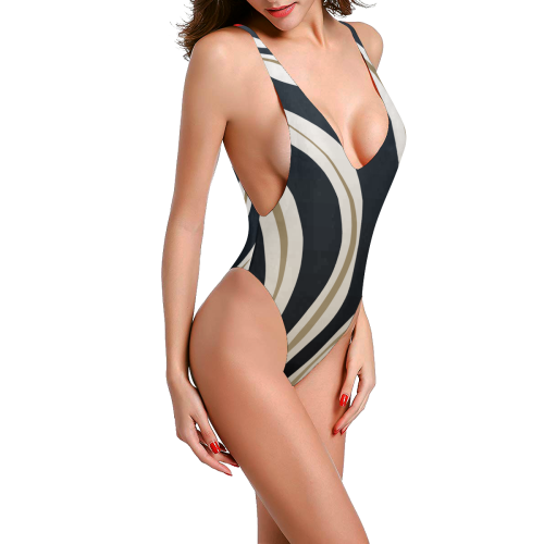 Limitless Low Back One-Piece Swimsuit | XXXL / Black/White/Gold / One-Piece | swimwear | JacksonsRunaway