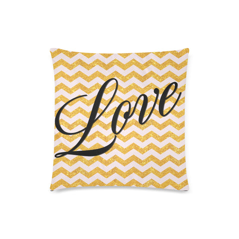 "Love Zippered 18""x18"" Pillow Case"