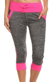 Everlasting Color Bloque Peppered Capri Leggings w  Pockets   Jacksons Runaway    1