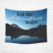 "Let The Adventure Wall Tapestry 60""x 51"""