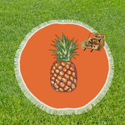 "Pineapple Circular Beach Throw 59""x 59"""