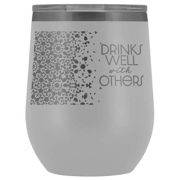 Well With Others Tumbler | White | Wine Tumbler | JacksonsRunaway