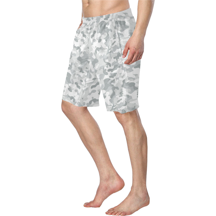 White Camo Men's Swim Trunks |  | swimwear | JacksonsRunaway