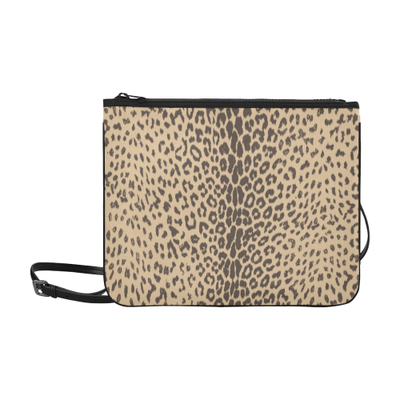 Leopard Slim Clutch Bag