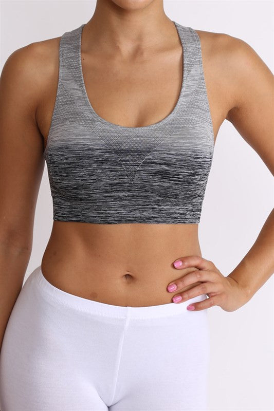 Ombre Sports Bra | Medium / Black Gray | Activewear | JacksonsRunaway