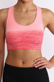 Activewear   Ombre Sports Bra   JacksonsRunaway   Coral Pink