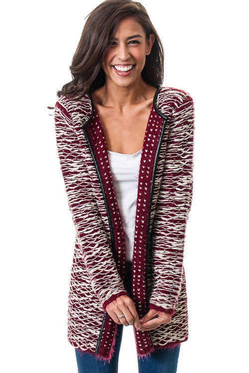 Open Front Draped Knit Cardigan Sweater   Jacksons Runaway    2