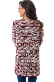 Open Front Draped Knit Cardigan Sweater | M/L / Oxblood | Women's | JacksonsRunaway