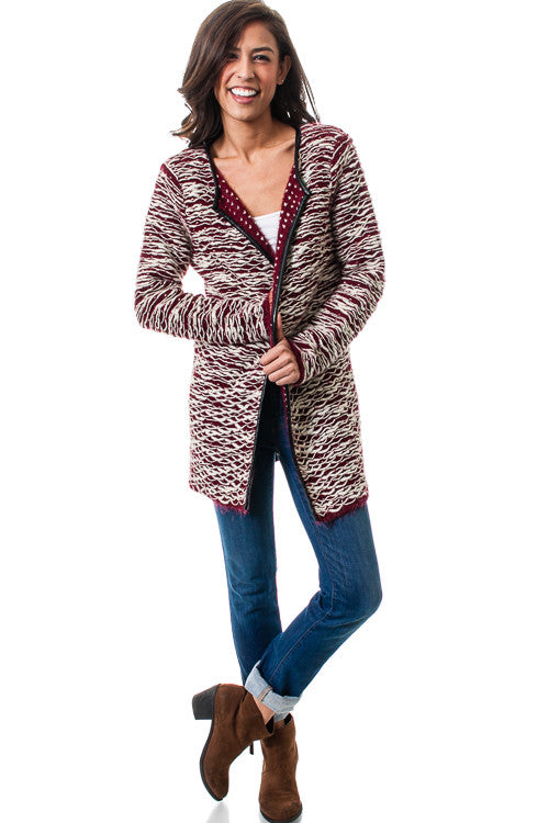 Open Front Draped Knit Cardigan Sweater   Jacksons Runaway    1