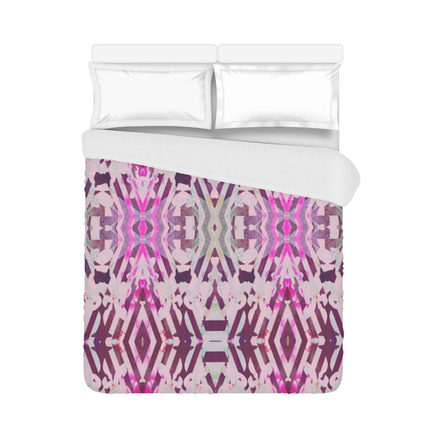"Adventure Pink Duvet Cover 86""x70"""