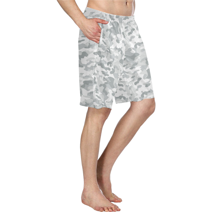 White Camo Men's Swim Trunks | XXL | swimwear | JacksonsRunaway