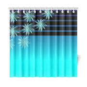 "Striped Flowers Shower Curtain 72""x72"""