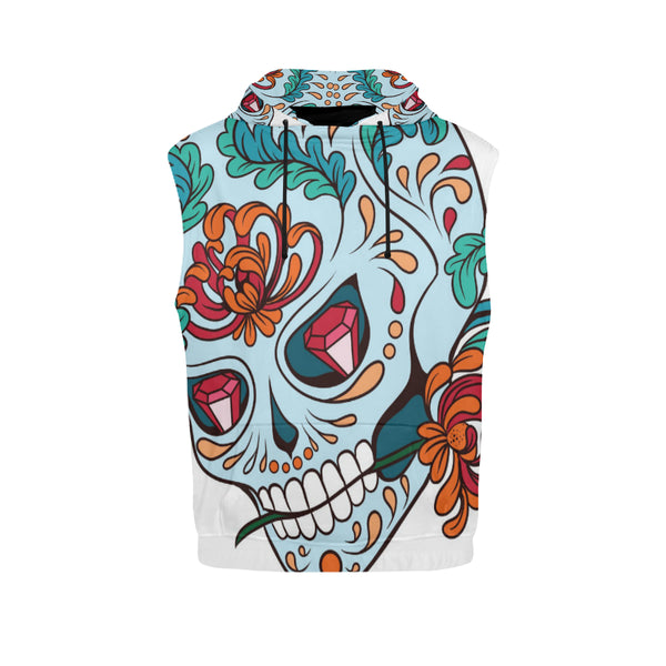 Sugar Skull Sleeveless Men's Hoodie
