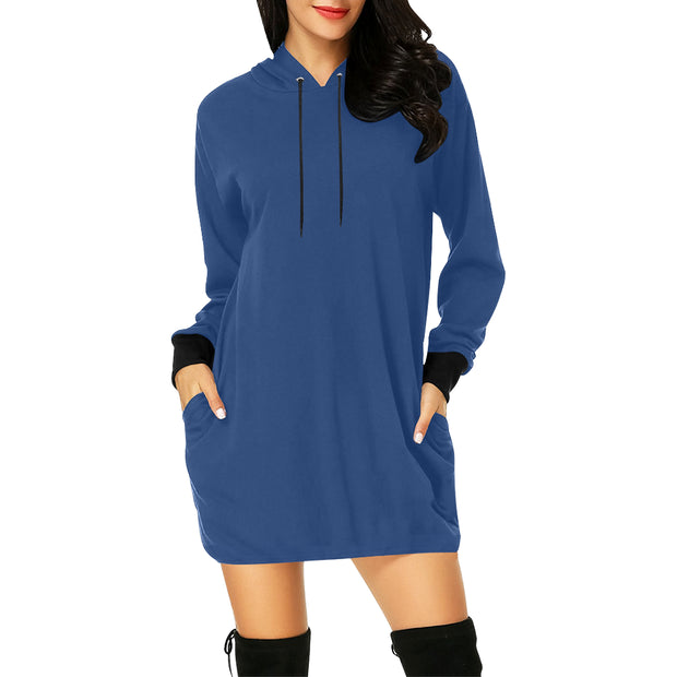 Solid Hoodie Mini Dress