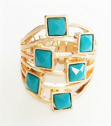 Back To Square One Stretch Cocktail Ring