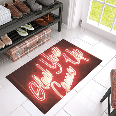 "Glad You Came Up Azalea Doormat 30"" x 18"""