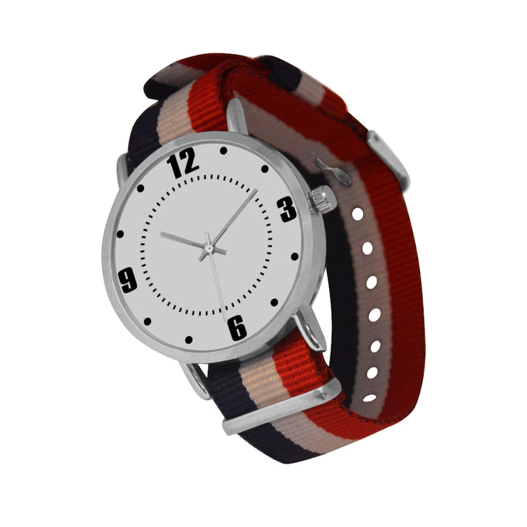 Ticking Nylon Strap Watch