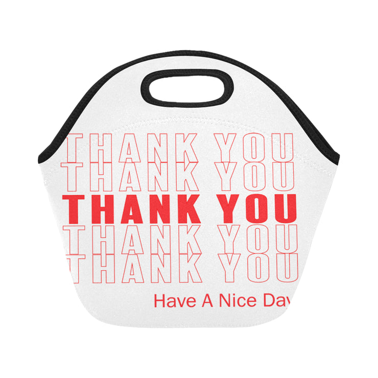 Thank You Come Again Neoprene Lunch Bag