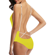 Yellow One-Piece Swimsuit