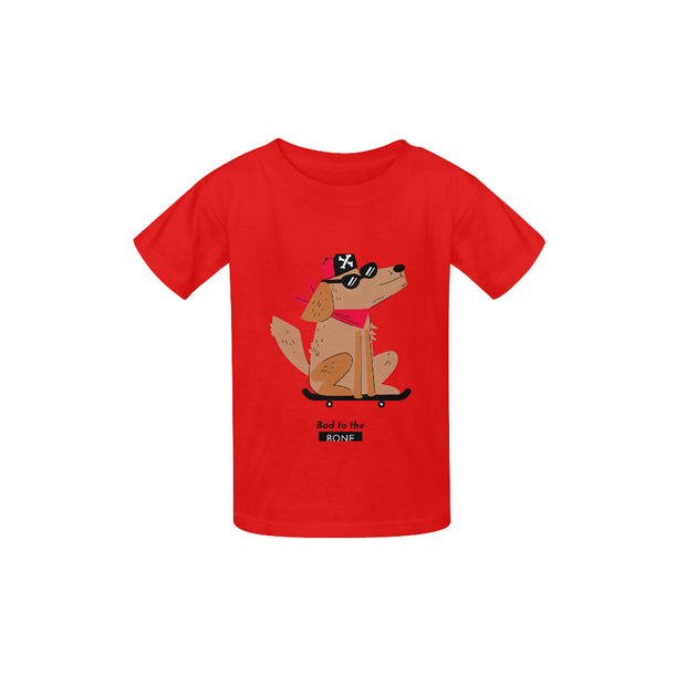 Bad to the Bone Kids T-shirt | XL / Red Kid's  Classic T-shirt (Model T22) | Children's T-Shirt | JacksonsRunaway