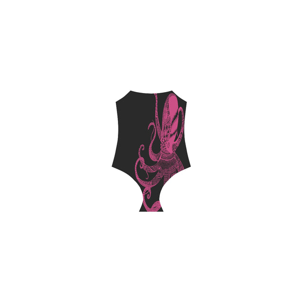 Octo Pink Strap One Piece Swimsuit