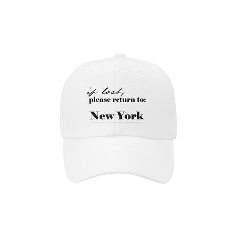 If Lost Return to NY Dad Hat