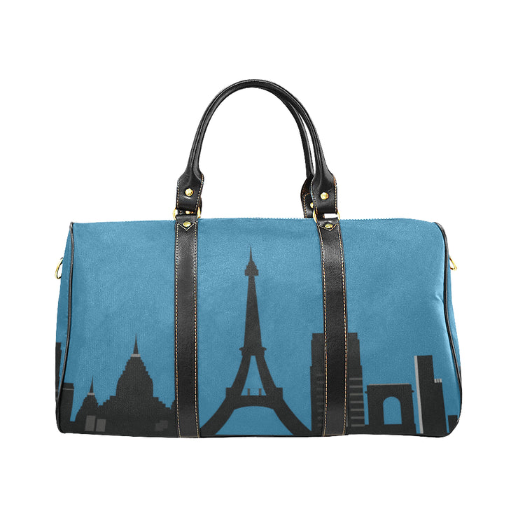 Trip to Paris Weekender Travel Bag | Large / Blue | Waterproof Travel Bags (1639) | JacksonsRunaway