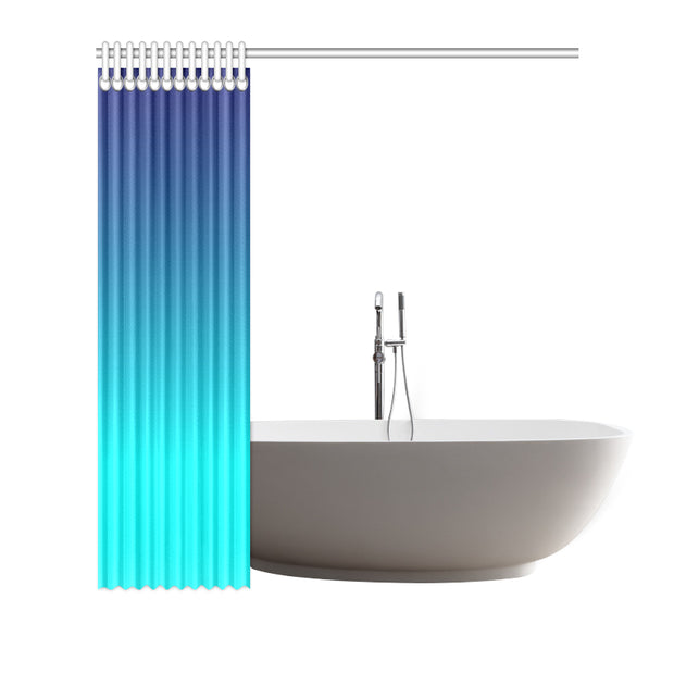 "Blue Ombre 72""x72"" Shower Curtain"