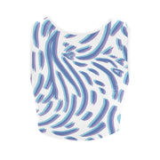 Blue Abstract Print Women's Crop Top |  | Crop Top | JacksonsRunaway