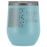 Well With Others Tumbler | Light Blue | Wine Tumbler | JacksonsRunaway